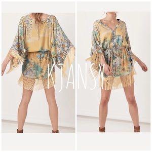 KJANSY Dresses - Haleakala Fringed Kimono Dress